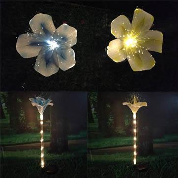 fib optik flè decoration limyè